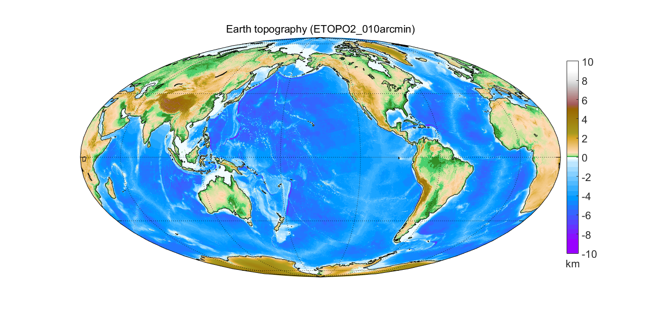 Asu matlab script for 3d visualizing geodata on a rotating globe earth topography as 2d map sciox Image collections