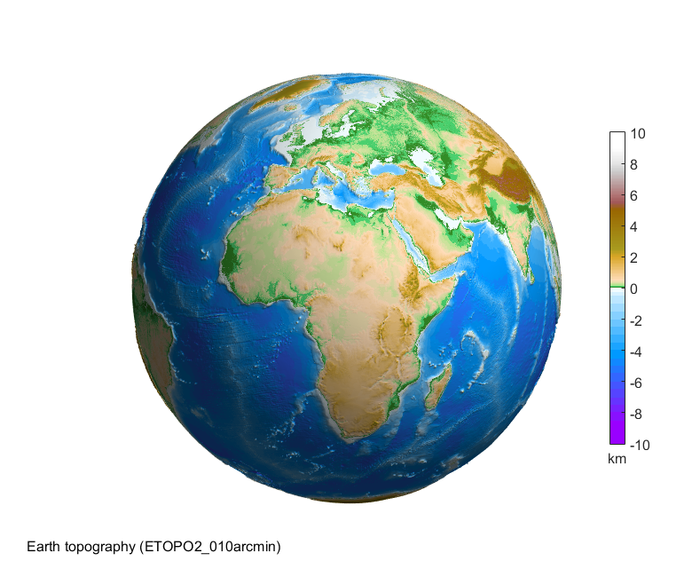 Asu matlab script for 3d visualizing geodata on a rotating globe topography of earth gumiabroncs Images