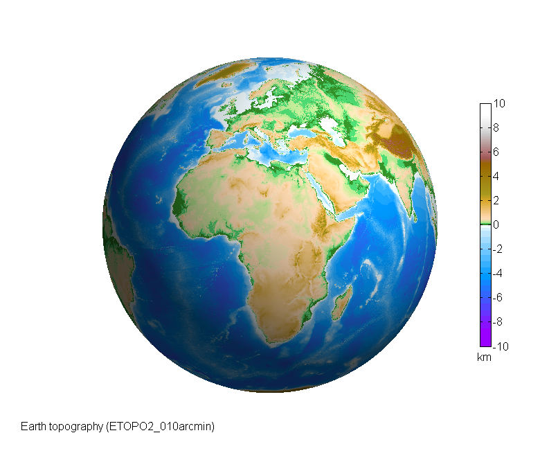 MATLAB Script For 3D Visualizing Geodata On A Rotating